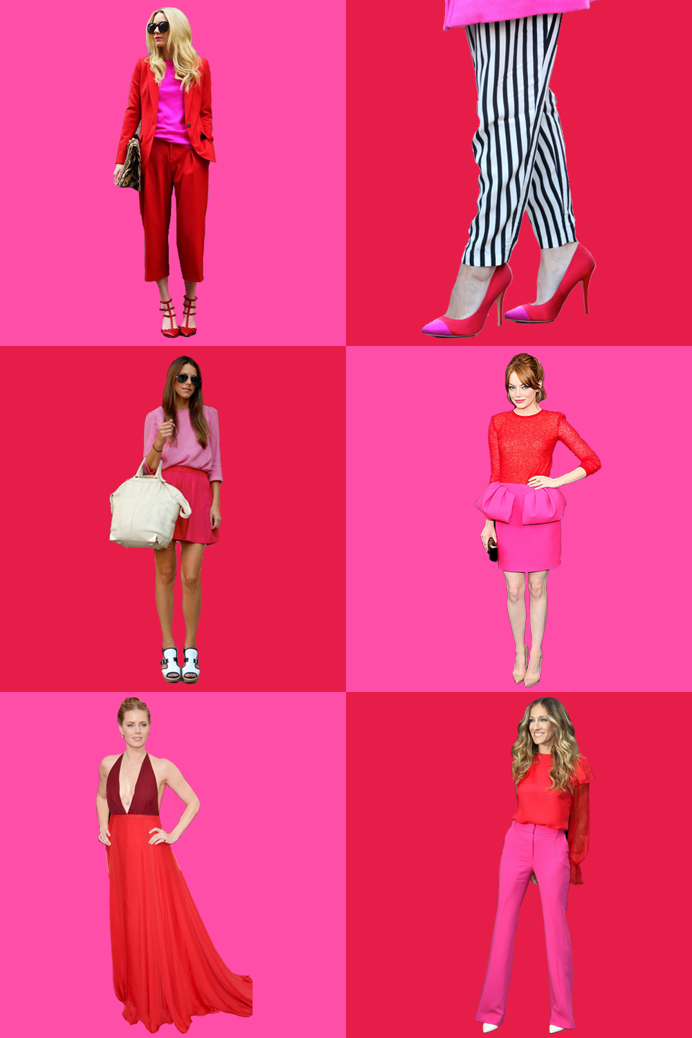 red-and-hot-pink-color-blocking