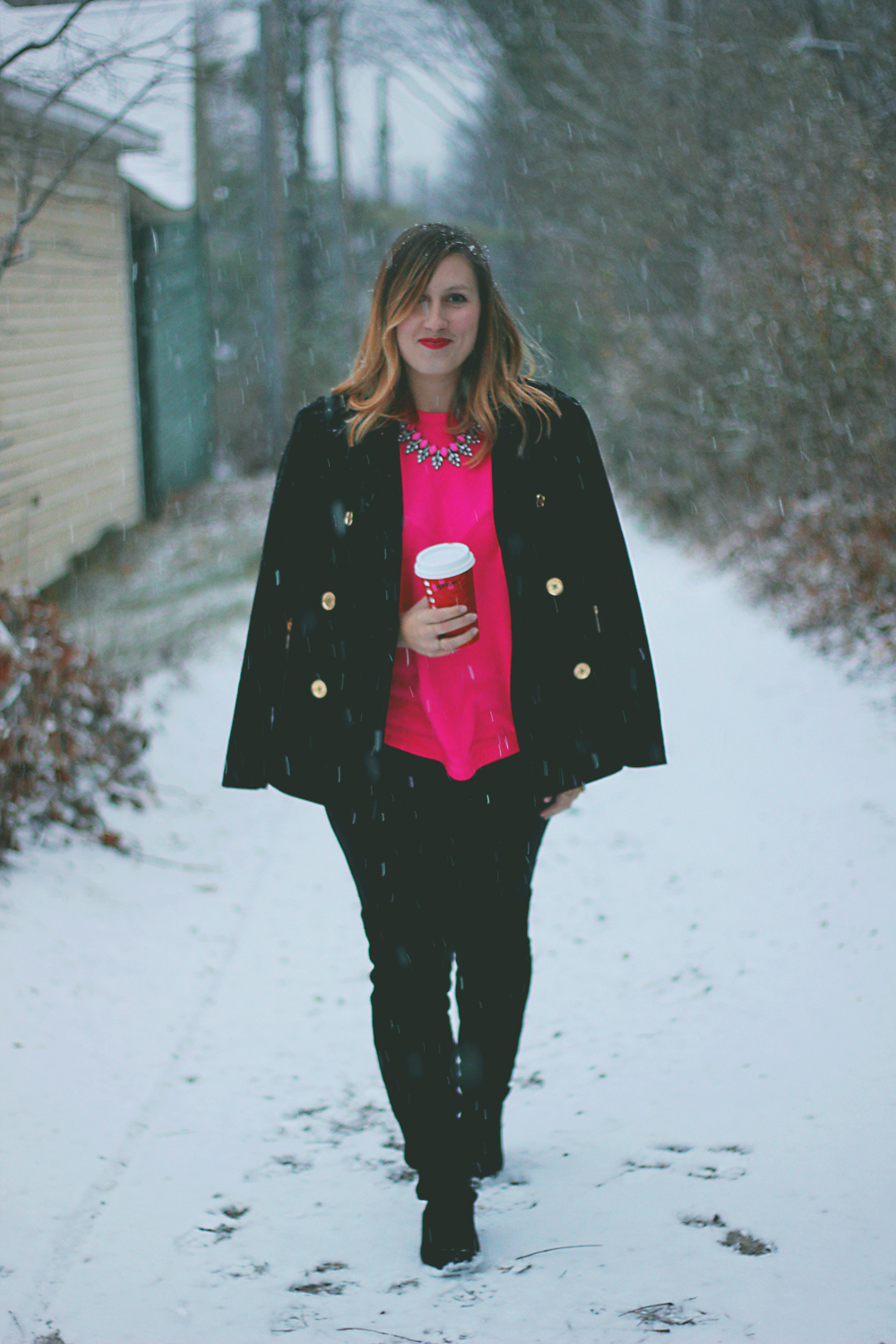 hot-pink-sweater-michael-kors-coat-1