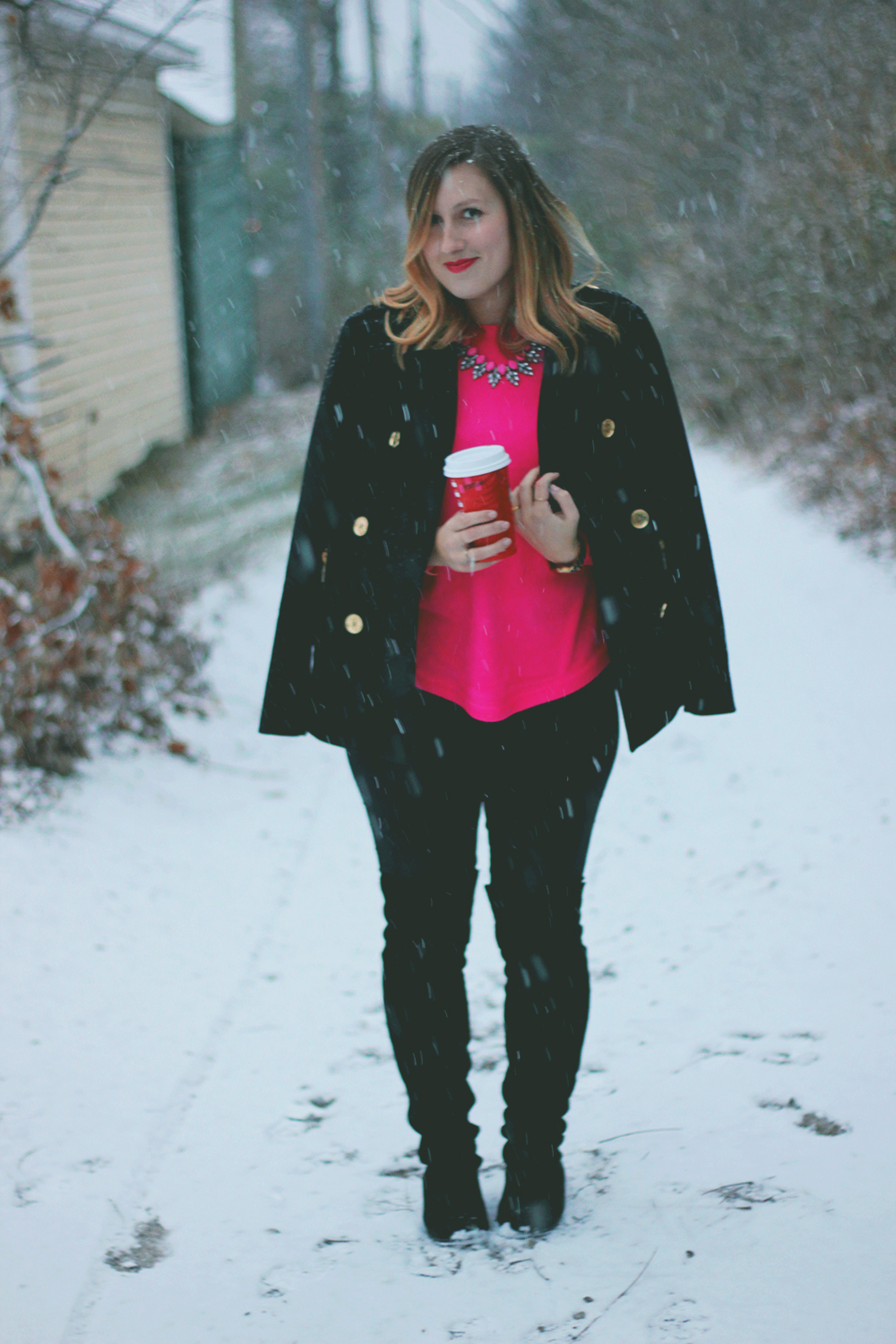 hot-pink-sweater-michael-kors-coat-2