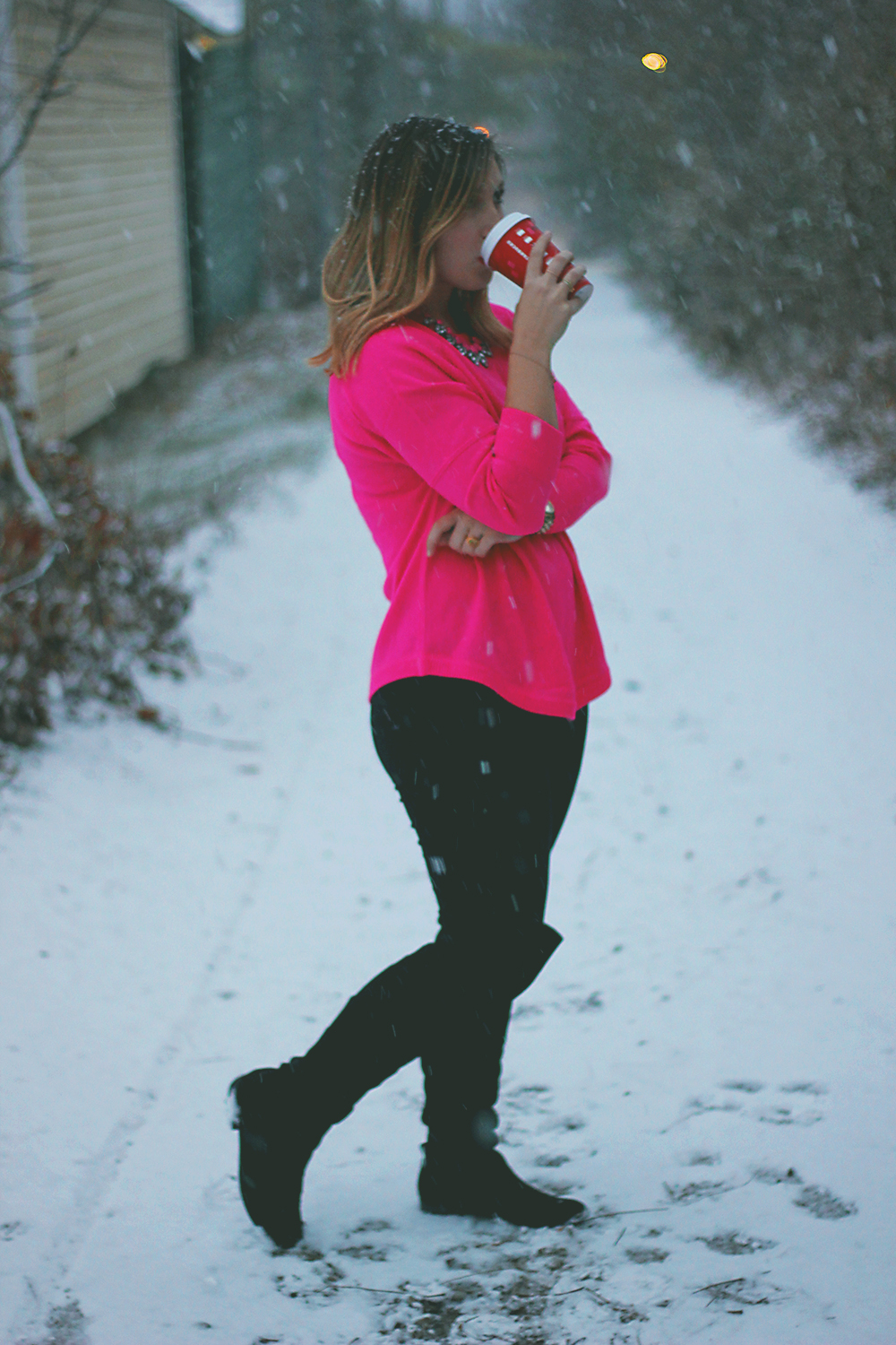 hot-pink-sweater-michael-kors-coat-7