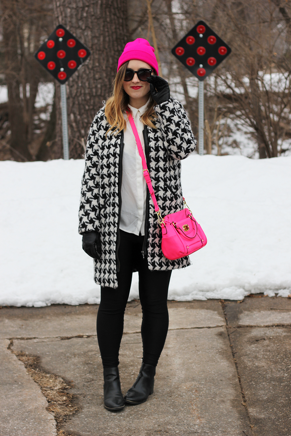 hot-pink-beanie-houndstooth-jacket-3
