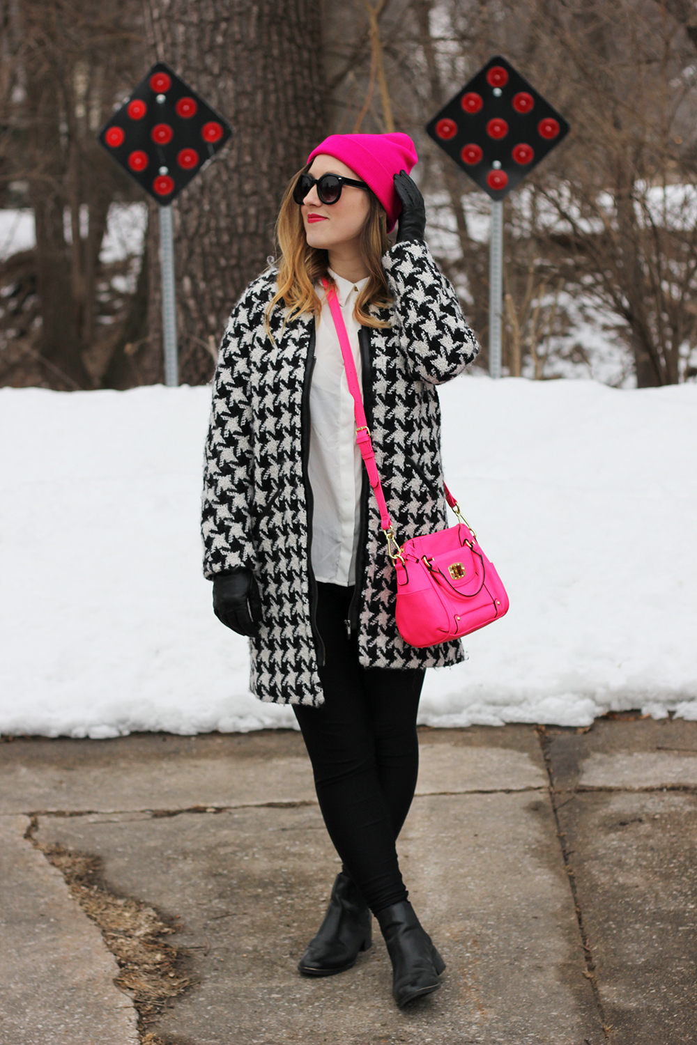 hot-pink-beanie-houndstooth-jacket-4