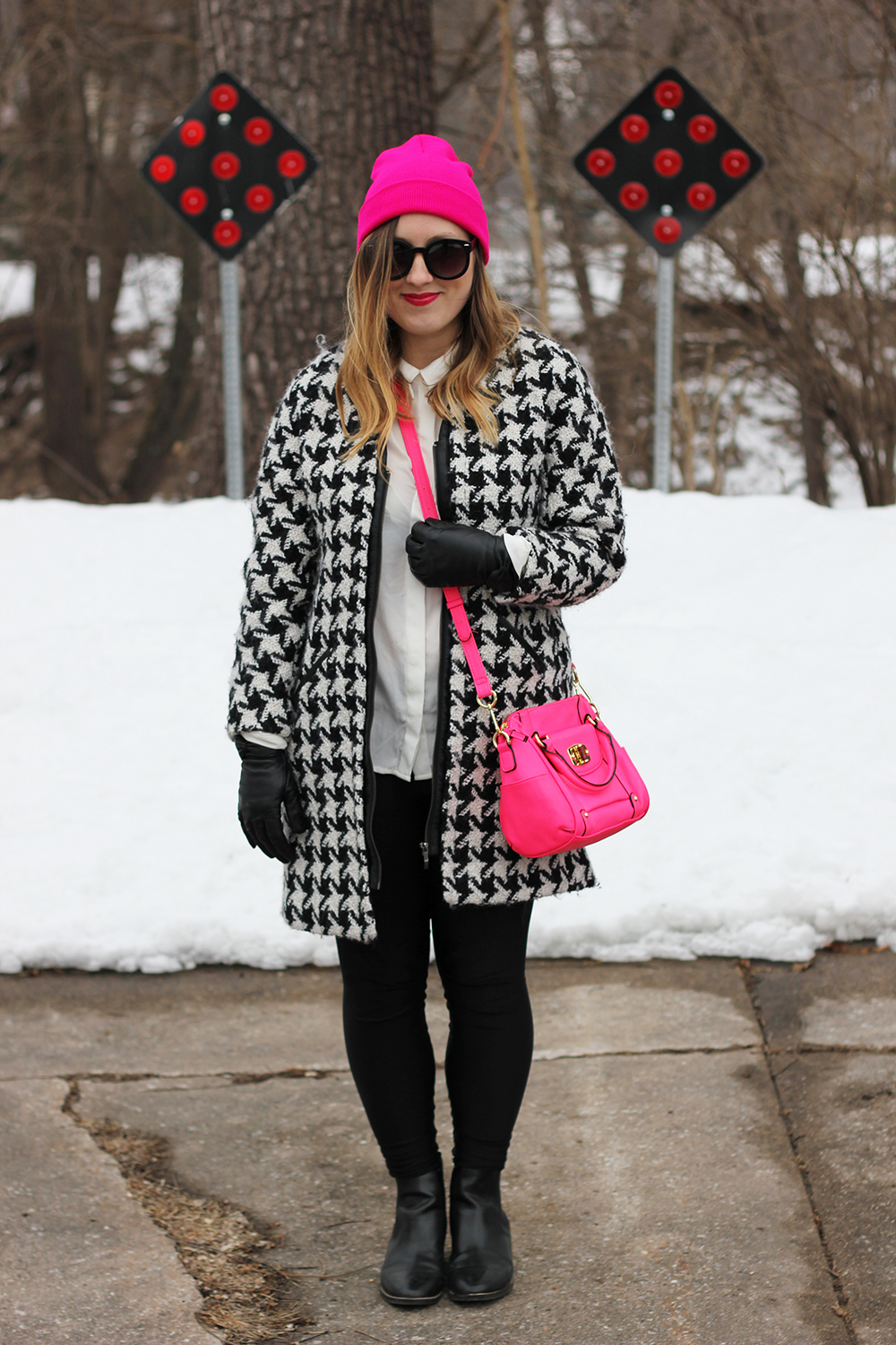hot-pink-beanie-houndstooth-jacket-5