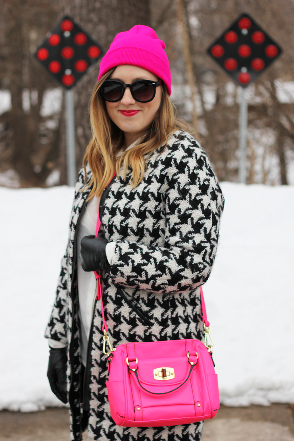 hot-pink-beanie-houndstooth-jacket-6