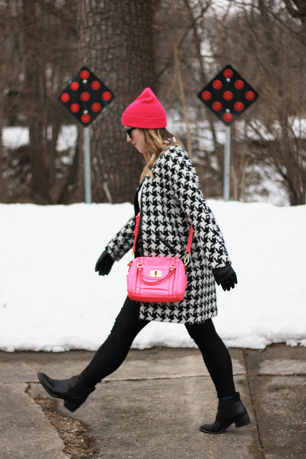 hot-pink-beanie-houndstooth-jacket-7