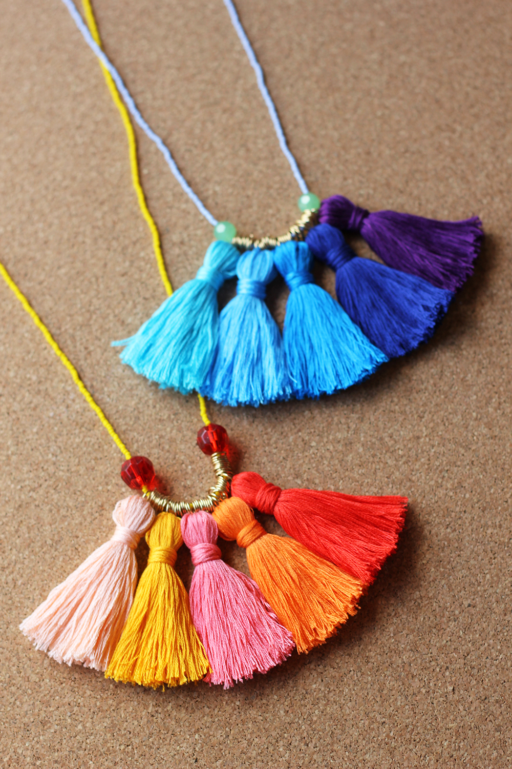 DIY Ombr\u00e9 Tassel Necklace  HomemadeBanana